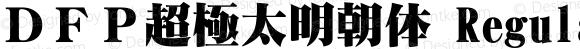 DFP超極太明朝体 Regular 1 Apr, 1997: Version 1.00