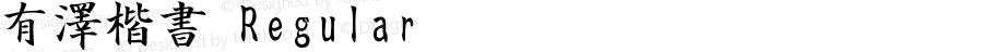 有澤楷書 Regular Option font:V1.00