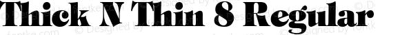 Thick N Thin 8 Regular 1.0 Fri May 05 12:51:27 1995