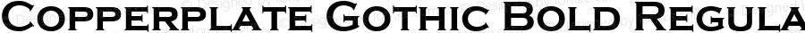Copperplate Gothic Bold Regular Version 1.00