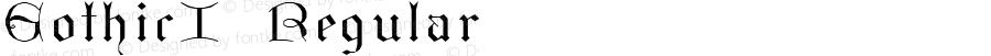 GothicI Regular Macromedia Fontographer 4.1.3 4/14/97