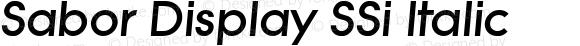 Sabor Display SSi Italic 001.001