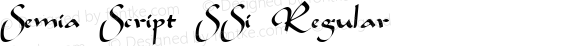 Semia Script SSi Regular 001.001