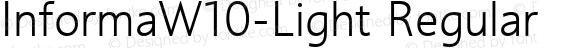 InformaW10-Light Regular