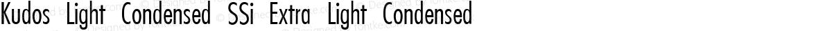 Kudos Light Condensed SSi Extra Light Condensed