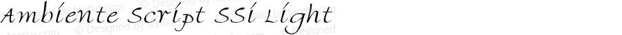 Ambiente Script SSi Light 001.000