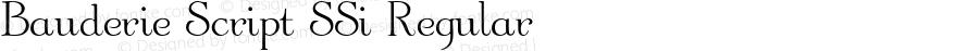Bauderie Script SSi Regular 001.000