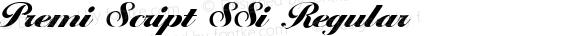 Premi Script SSi Regular preview image