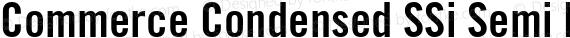Commerce Condensed SSi Semi Bold Condensed preview image