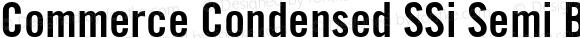 Commerce Condensed SSi Semi Bold Condensed
