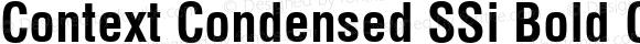 Context Condensed SSi Bold Condensed 001.002