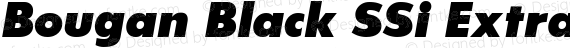 Bougan Black SSi Extra Bold Italic preview image