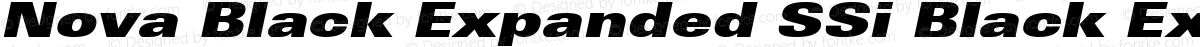 Nova Black Expanded SSi Black Expanded Italic