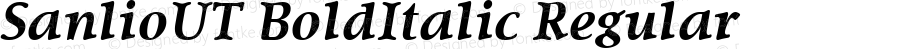 SanlioUT BoldItalic Regular Altsys Fontographer 4.0.4D2 5/10/96