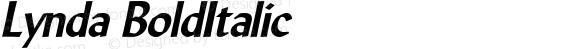 Lynda BoldItalic Altsys Fontographer 4.1 5/10/96