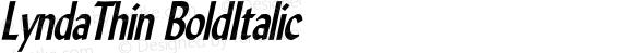 LyndaThin BoldItalic Altsys Fontographer 4.1 5/10/96