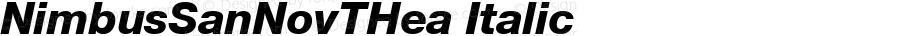 NimbusSanNovTHea Italic Version 001.005