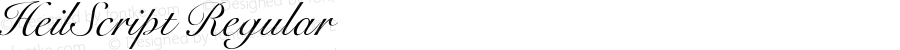 HeilScript Regular Macromedia Fontographer 4.1.5 5/14/98