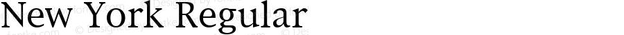 New York Regular Macromedia Fontographer 4.1.5 17/5/97