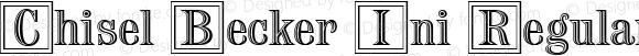 Chisel Becker Ini Regular Version 001.005