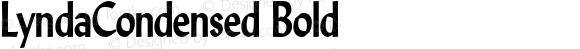 LyndaCondensed Bold Altsys Fontographer 4.1 5/16/96