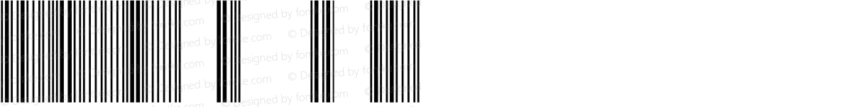 Barcode 3 of 9 Bold