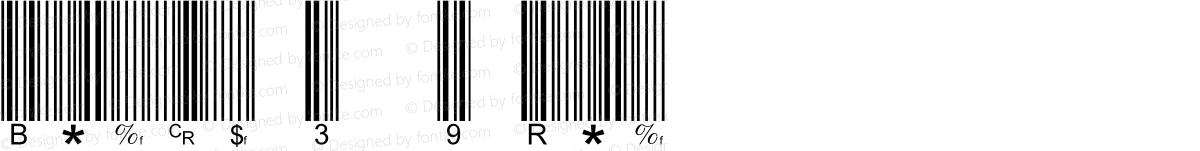 Barcode 3 of 9 Regular
