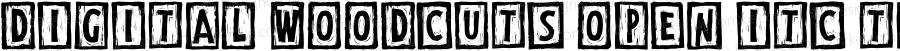 Digital Woodcuts Open ITC TT Regular Macromedia Fontographer 4.1.3 5/20/97