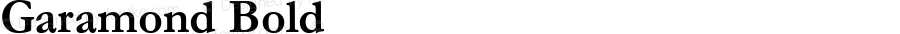 Garamond Bold Version 2.30