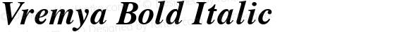 Vremya Bold Italic