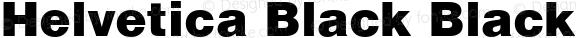Helvetica Black Black