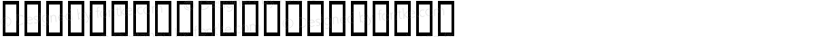 HINODECTERHir Regular Macromedia Fontographer 4.1 99/05/27