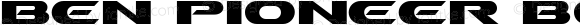 Ben Pioneer Bold Macromedia Fontographer 4.1 11/14/97