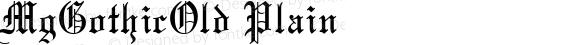 MgGothicOld Plain Altsys Fontographer 3.3  12/23/92