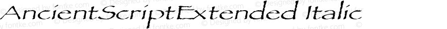 AncientScriptExtended Italic Rev. 003.000