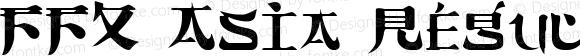 FFX Asia Regular Altsys Fontographer 3.5  10/2/92