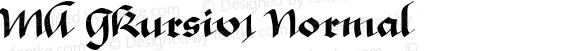 MA GKursiv1 Normal 1.0 Tue Jun 18 06:02:56 1996