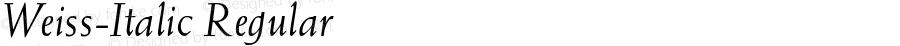 Weiss-Italic Regular Unknown