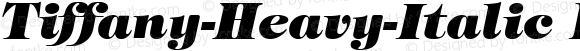 Tiffany-Heavy-Italic Regular Unknown