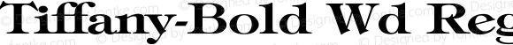Tiffany-Bold Wd Regular Unknown