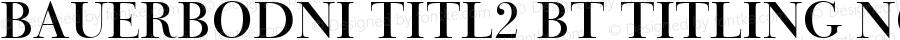 BauerBodni Titl2 BT Titling No.2 mfgpctt-v4.5 Fri Jun 25 07:42:09 EDT 1999