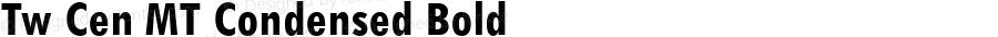 Tw Cen MT Condensed Bold Version 1.02