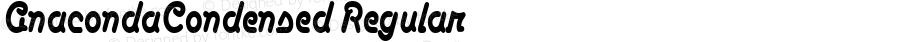 AnacondaCondensed Regular The IMSI MasterFonts Collection, tm 1995 IMSI