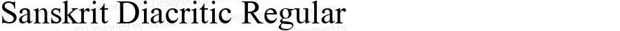 Sanskrit Diacritic Regular MS core font:V1.00