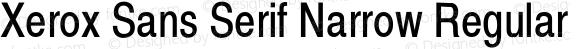 Xerox Sans Serif Narrow