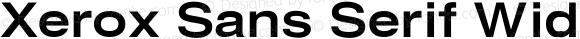 Xerox Sans Serif Wide Bold