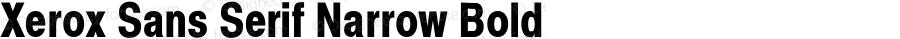 Xerox Sans Serif Narrow Bold