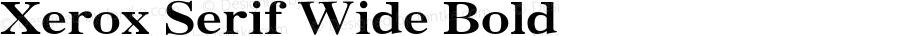 Xerox Serif Wide Bold 1.1