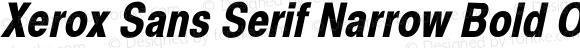 Xerox Sans Serif Narrow Bold Oblique