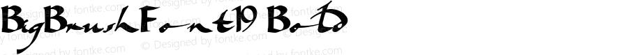 BigBrushFont19 Bold